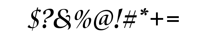 Canto Pen Bold Italic Font OTHER CHARS