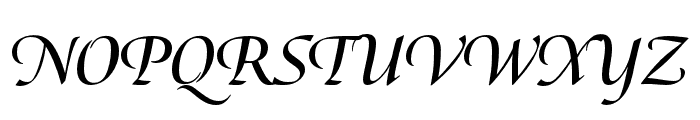 Canto Pen Bold Italic Font UPPERCASE