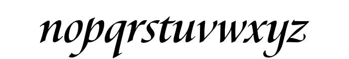 Canto Pen Bold Italic Font LOWERCASE