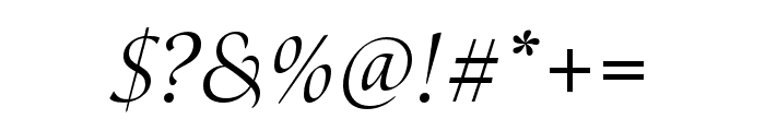 Canto Pen Italic Font OTHER CHARS
