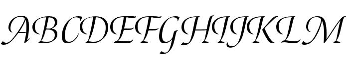 Canto Pen Italic Font UPPERCASE