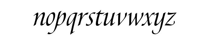 Canto Pen Italic Font LOWERCASE