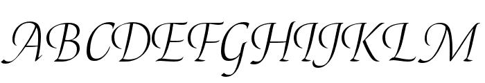 Canto Pen Light Italic Font UPPERCASE
