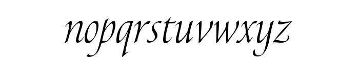 Canto Pen Light Italic Font LOWERCASE