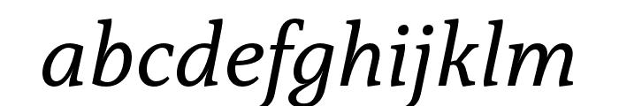 Capitolina Italic Font LOWERCASE