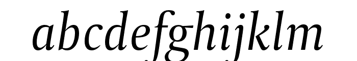 CapitoliumNews 2 Italic Font LOWERCASE