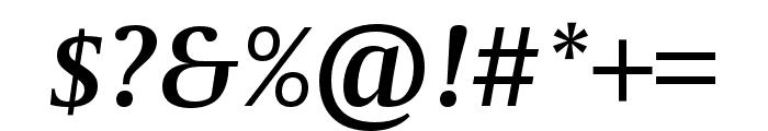 CapitoliumNews 2 SemiBold Italic Font OTHER CHARS
