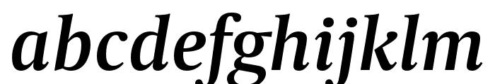 CapitoliumNews 2 SemiBold Italic Font LOWERCASE