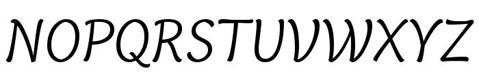 Capucine Basic Light Italic Font UPPERCASE
