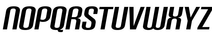 Carbon Bold Italic Font UPPERCASE
