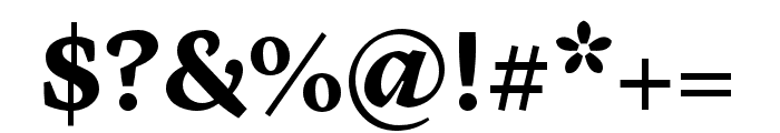 Cardea OT Bold Lining Font OTHER CHARS