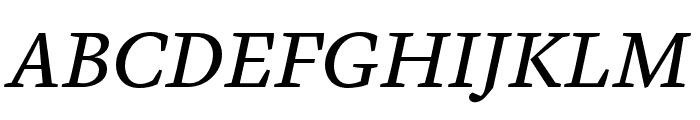 Cardea OT Reg Italic Lining Font UPPERCASE