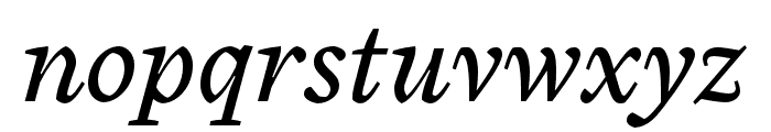 Cardea OT Reg Italic Lining Font LOWERCASE