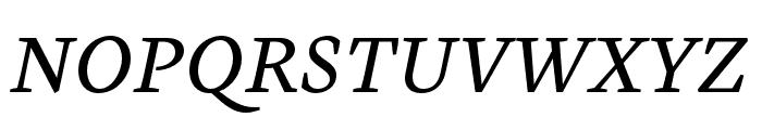 Cardea OTCE Reg Italic Font UPPERCASE