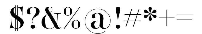 Carina Pro Regular Font OTHER CHARS
