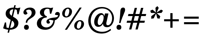 Casus Pro Demibold Italic Font OTHER CHARS