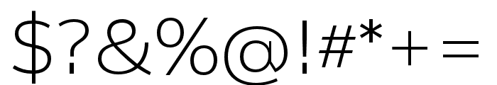 Catalpa Extralight Font OTHER CHARS