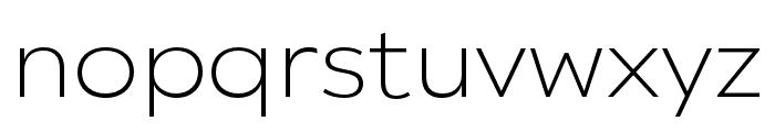 Catalpa Extralight Font LOWERCASE