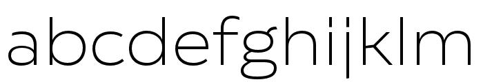 Catalpa Thin Font LOWERCASE