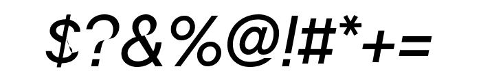 ChaletOblique NewYork Font OTHER CHARS