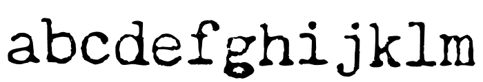 Chandler42Regular Regular Font LOWERCASE