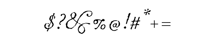 Chanson D'Amour Regular Font OTHER CHARS