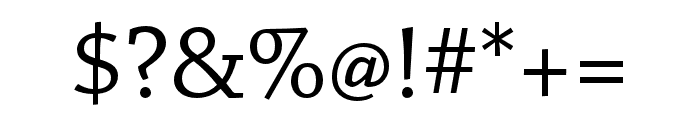 Chaparral Pro Display Font OTHER CHARS