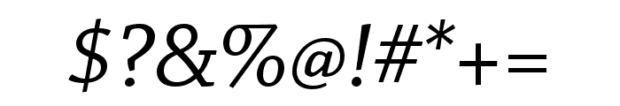 Chaparral Pro Italic Subhead Font OTHER CHARS