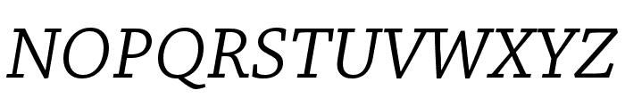 Chaparral Pro Italic Subhead Font UPPERCASE