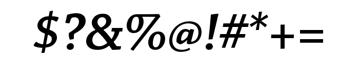Chaparral Pro Semibold Italic Display Font OTHER CHARS