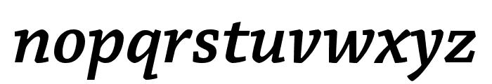 Chaparral Pro Semibold Italic Subhead Font LOWERCASE