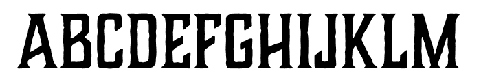 Charcuterie Flared Bold Font LOWERCASE
