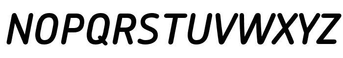 Chevin Pro DemiBold Italic Font UPPERCASE
