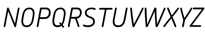 Chevin Pro Light Italic Font UPPERCASE