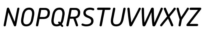 Chevin Pro Medium Italic Font UPPERCASE