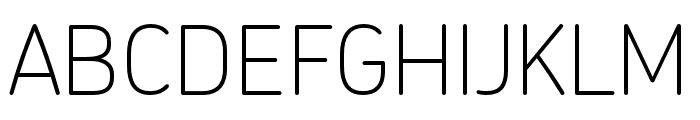 Chevin Pro Thin Font UPPERCASE