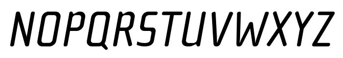 Cholla Wide OT Regular Italic Font UPPERCASE