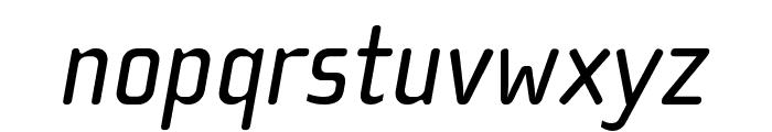 Cholla Wide OT Regular Italic Font LOWERCASE