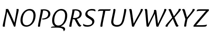 Ciabatta Light Italic Font UPPERCASE