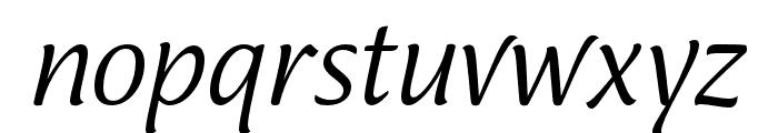 Ciabatta Light Italic Font LOWERCASE