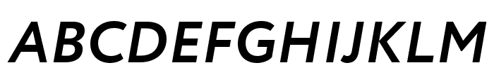 Circe Bold Italic Font UPPERCASE