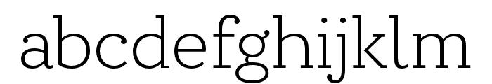 Circe Slab A Extra Light Font LOWERCASE