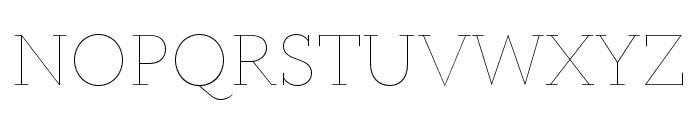 Circe Slab A Hairline Font UPPERCASE