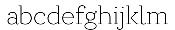 Circe Slab A Narrow Light Font LOWERCASE