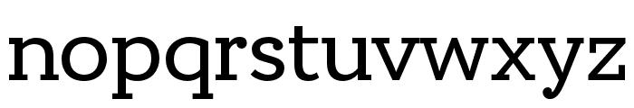 Circe Slab A Regular Font LOWERCASE