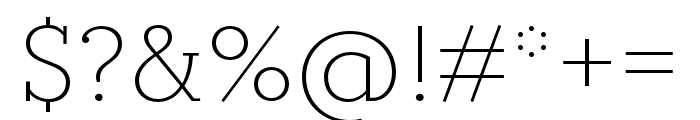 Circe Slab B Light Font OTHER CHARS