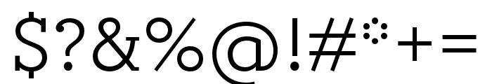Circe Slab B Narrow Medium Font OTHER CHARS