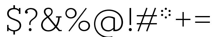 Circe Slab C Narrow Font OTHER CHARS