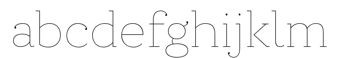 Circe Slab C Thin Font LOWERCASE