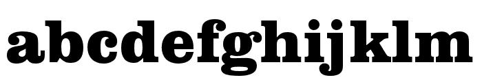 Clarendon URW Extra Bold Font LOWERCASE